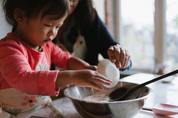 Little hands making BIG cookies