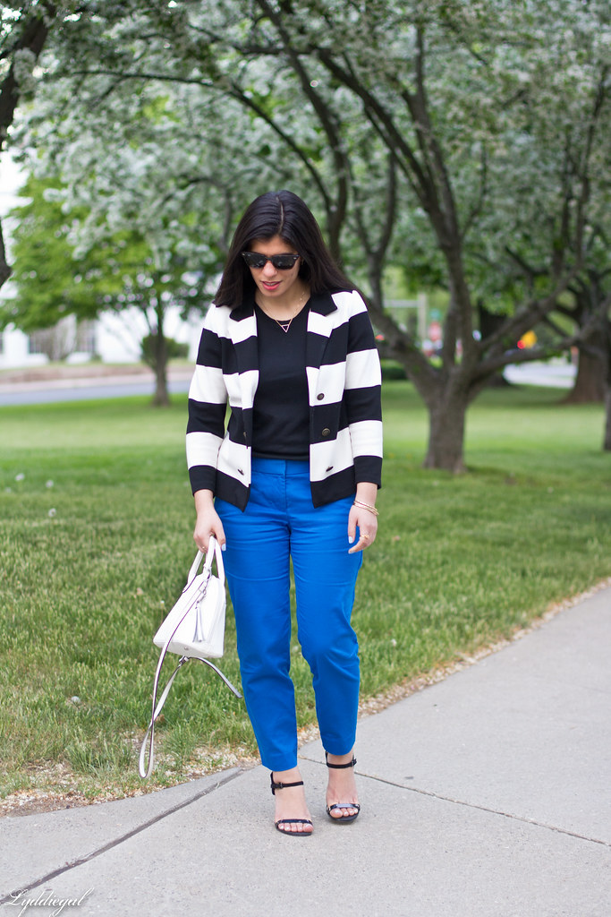 blue pants, striped blazer, black tee.jpg