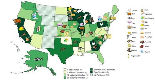 USDA Foods Map