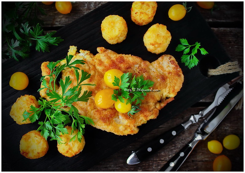 ...chicken schnitzel curry
