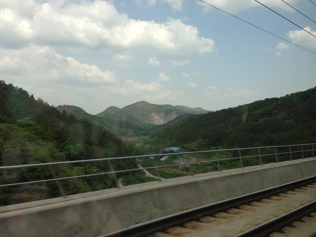 Countryside views on our way back to Seoul