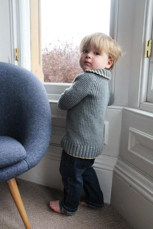 handknit toddler cardigan