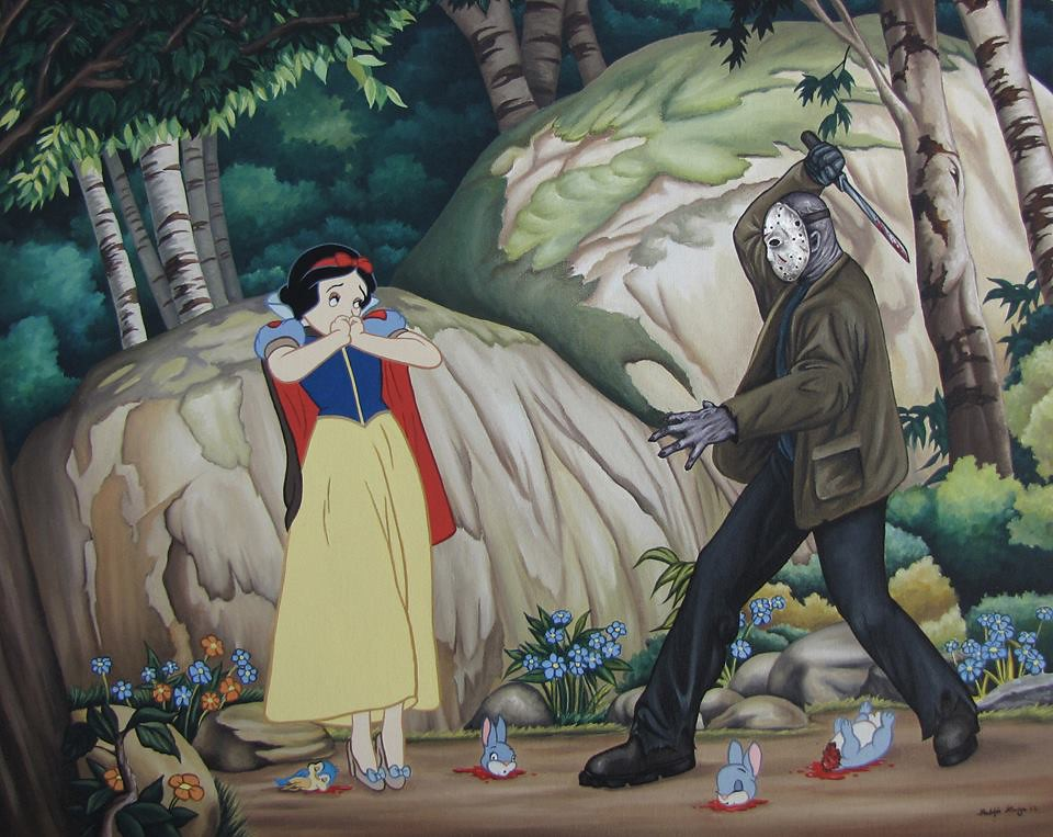 Disenchanted Disney by Rodolfo Loaiza Ontiveros - Blood Forrest - Snow White vs Jason Vorhees