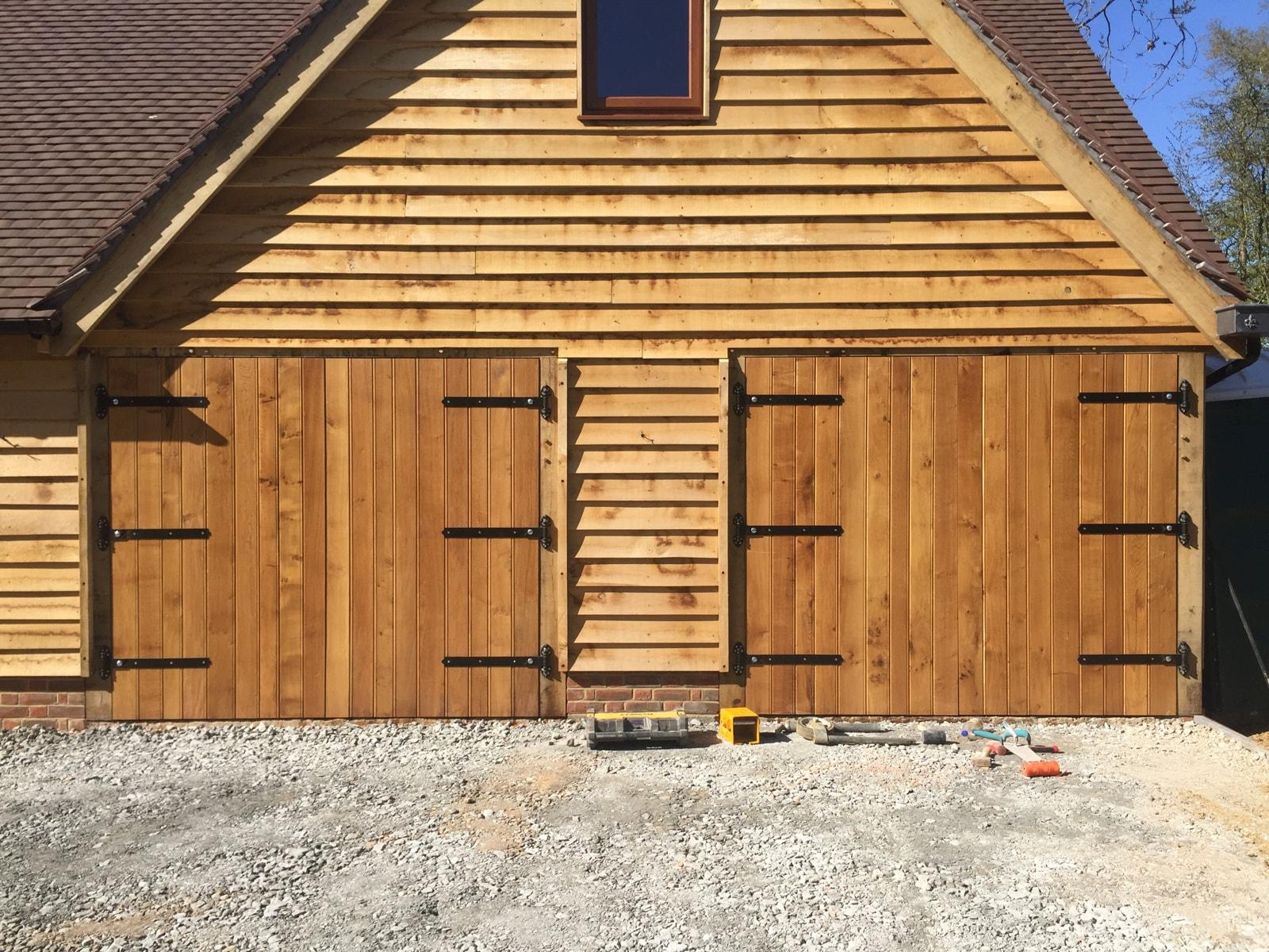 Oak Framed Garages Solid Oak Garage Doors Softwood Barn Doors