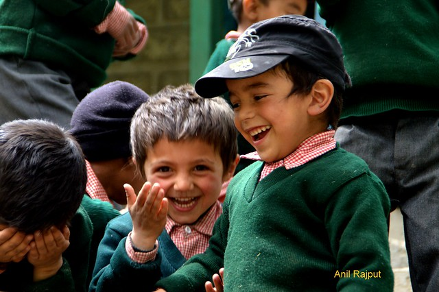 Red Aryans village Garkon, school kids, Batalik, Kargil