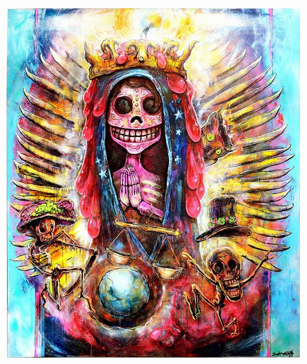 Painting Santa Muerte