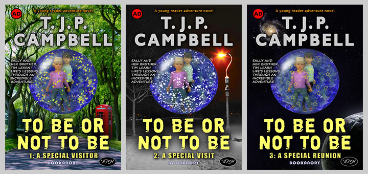 To Be Or Not To Be trio of book covers