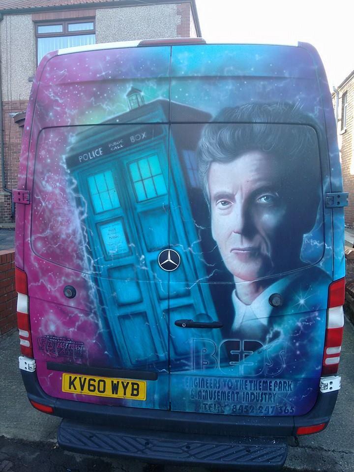 Doctor Who Van TARDIS Peter Capaldi