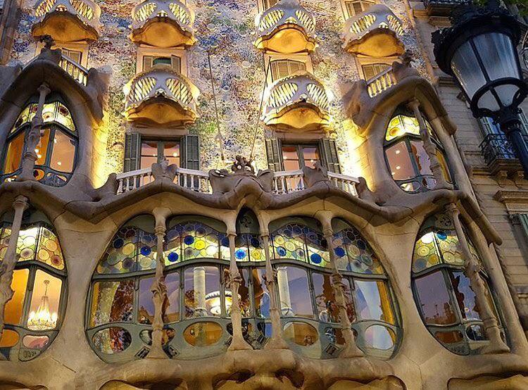 Fachada y ventanas de Casa Batlló