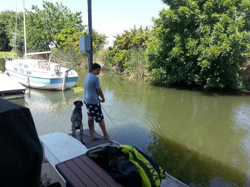 Tony fishing
