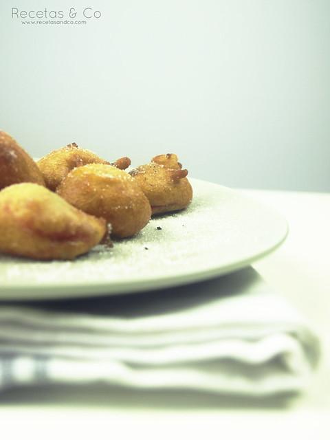 Receta buñuelos fresa