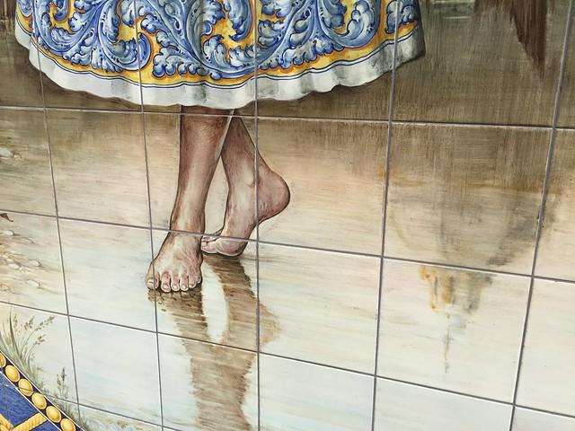 Imagen en azulejos de Talavera de la Reina