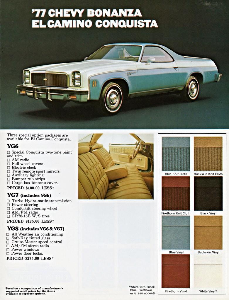 1977 Chevrolet El Camino Conquista Bonanza Package Flickr