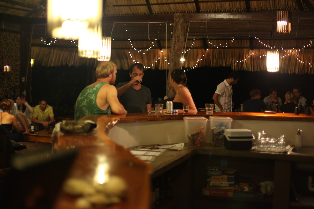 Guests drinking at Buena Vista Surf Club