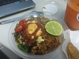 Taco Salad from Charlie's Raw Squeeze at Everton Park