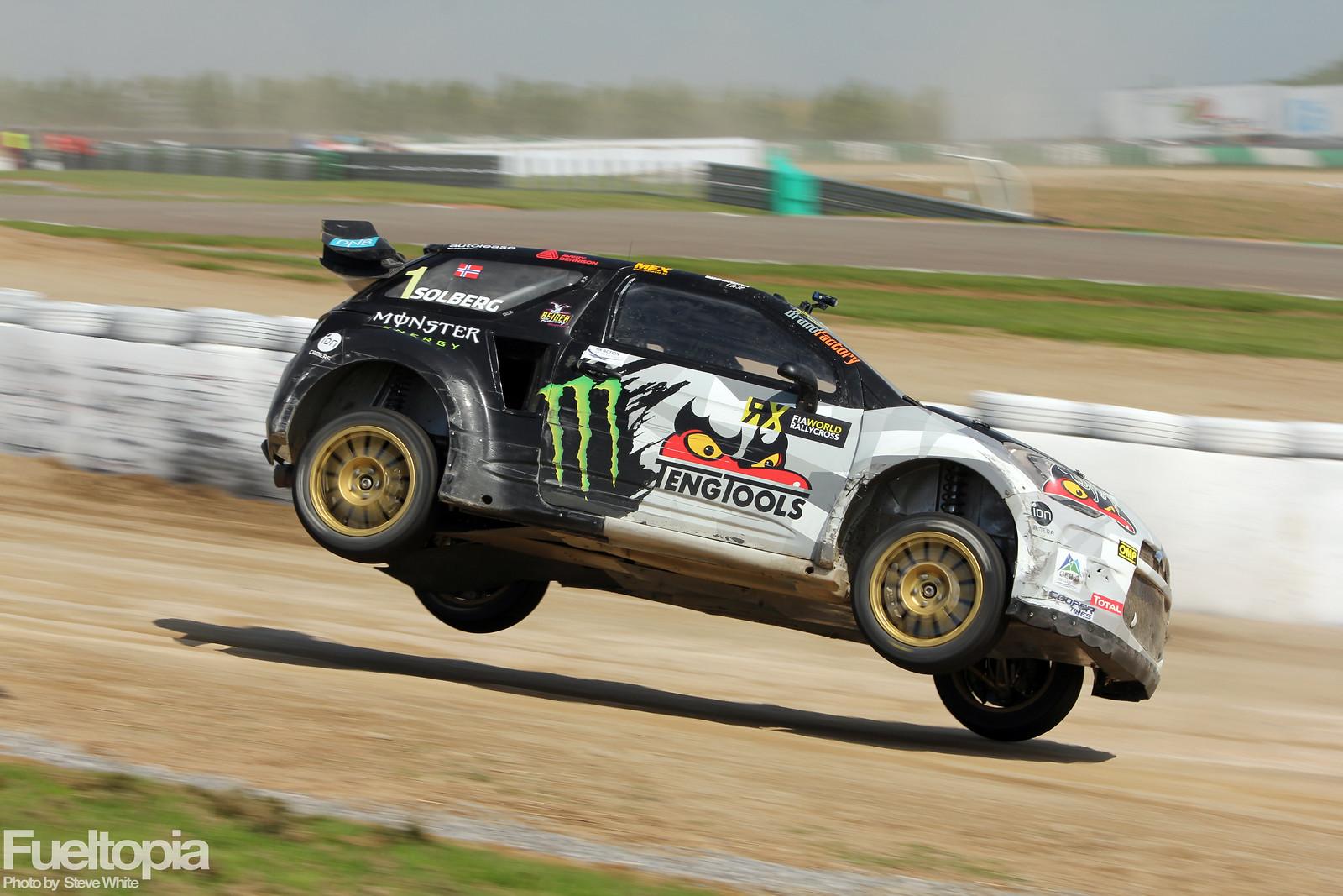 Citroen DS3 Petter Solberg PSRX WRX World Rallycross Championship 2018 Steve White Fueltopia