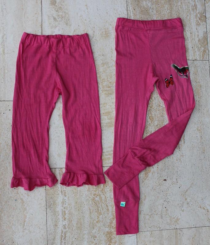 Roze legging en pyjamabroek