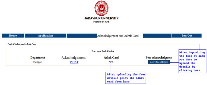 Jadavpur University M.Phil. Admit Card 2017 for Admission Test