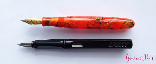 Review Edison Collier Persimmon Swirl Fountain Pen @EdisonPenCo @CouronneDuComte (8)