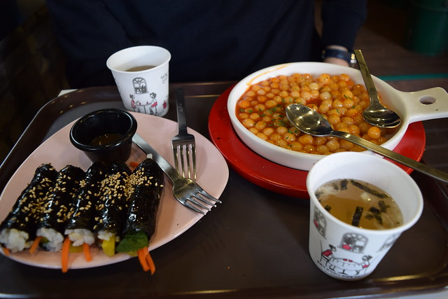 Gimbab 김밥 & Spicy Ddeok 떡