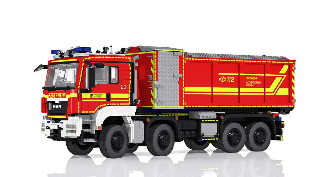 Lego Man Tgs Hooklift Truck 8x8 Wechselladerfahrzeug