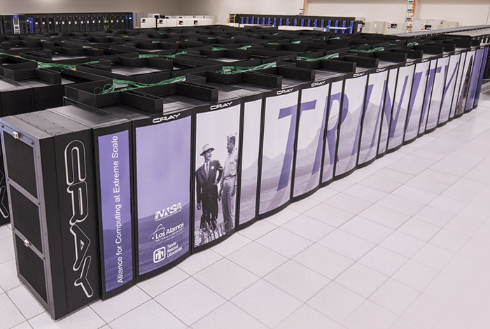 The Trinity supercomputer's two partitions sited at Los Alamos National Laboratory were merged, with both Xeon Haswell and the Xeon Phi Knights Landing (KNL) processors available for production computing in the Laboratory's classified network.