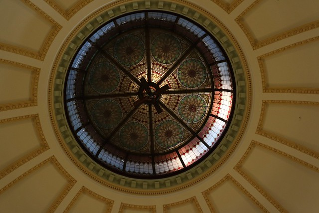 Domed glass