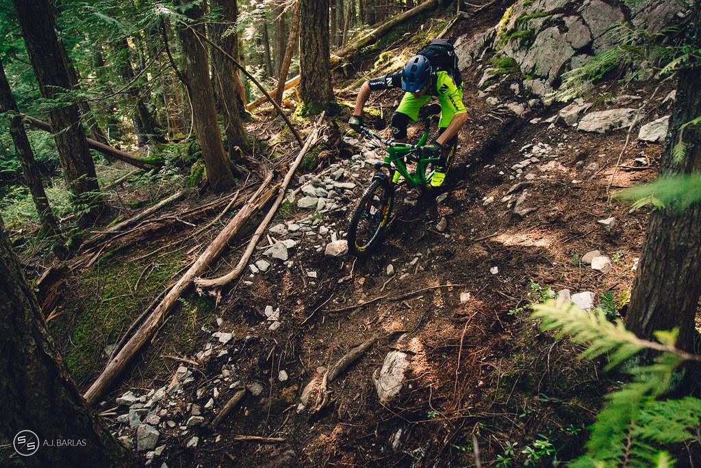 Dylan Wolsky pinging rocks, Whistler