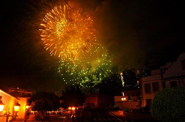Fuegos del Mayo, Fireworks, Los Realejos, Tenerife