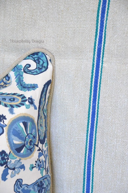 Pottery Barn Pillow/Vintage Grain Sack-Housepitality Designs
