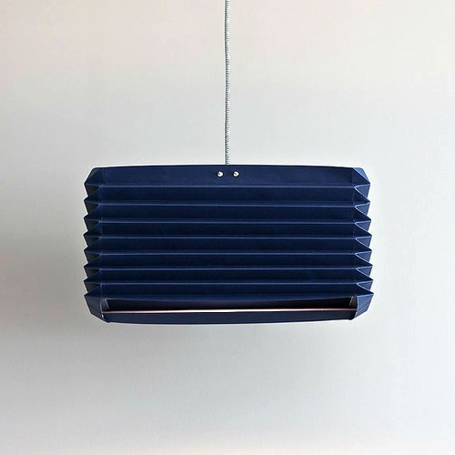 Akordion Origami Lampshade from NANA ZOOLAN - Navy