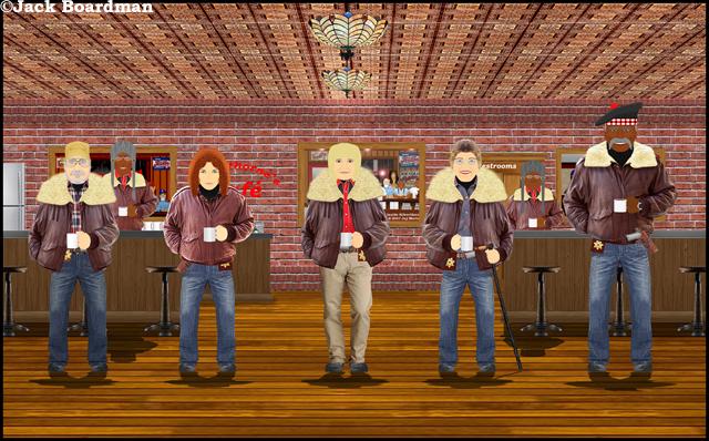 Moosehead County sheriffs at Silverthorn's Café ©Jack Boardman
