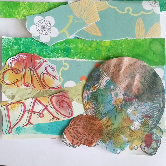 Getting inspired by the #craftorijzomerchallenge #elkedag #crafty #crafting #correspondencecards #mixedmedia #mailartists #mailart #collageart #collage