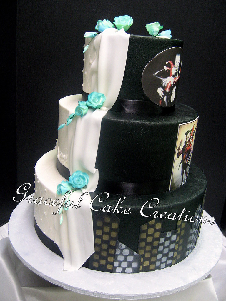 Joker And Harley Quinn Wedding Cake