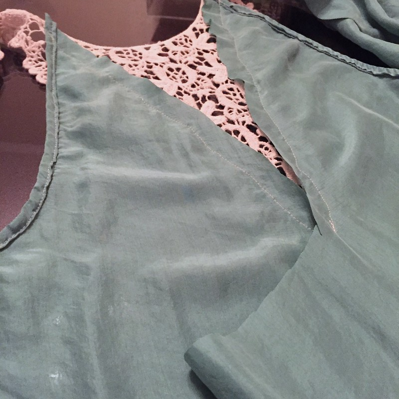Silk and Lace Blouse - In Progress