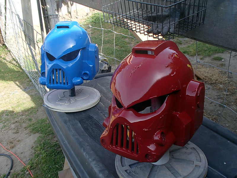 Space Marine Helmets in Base Colors
