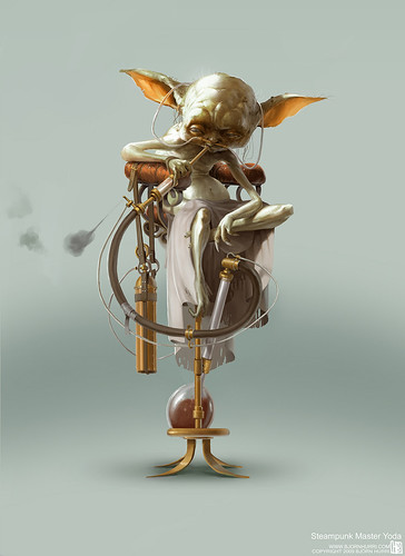 Steampunk Star Wars by Bjorn Hurri - Yoda