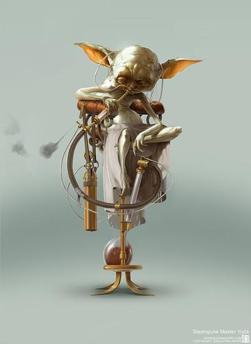 Steampunk Star Wars by Bjorn Hurri - Yoda