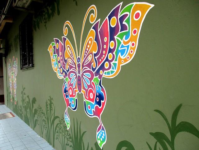 Sibu street art butterfly 1