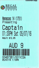 Captain America: Civil War ticketstub