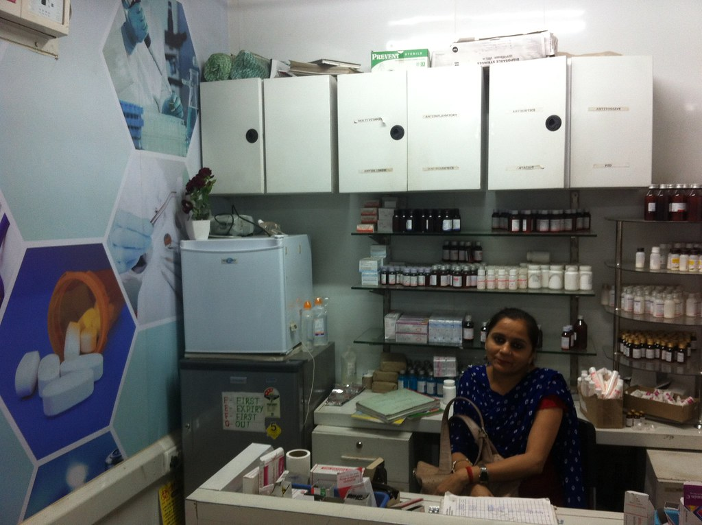The pharmacy at the Peera Garhi mohalla clinic.