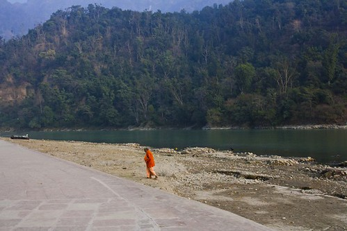 Triveni Ghat in Rishikesh, Uttarakhand, India