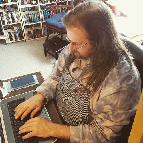 Just keep writing...just keep writing.... #AmWriting #overalls #HickoryStripe #Dickies