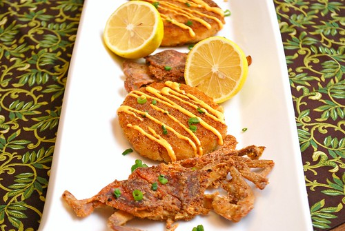 Pan-Fried Soft Shell Crab & Cornmeal Crabcakes