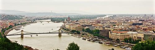 Budapest chain bridge panorama