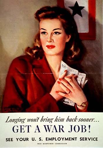 World War II Poster - Get a War Job