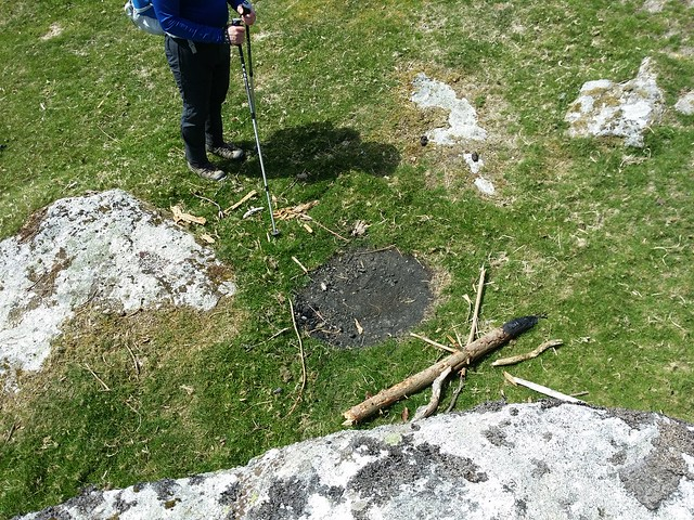 Unsightly fire pit below Middle Tor