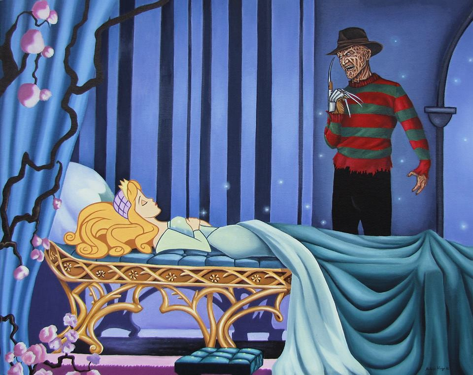 Disenchanted Disney by Rodolfo Loaiza Ontiveros - Never Sleep Again - Sleeping Beauty vs Freddy Krueger