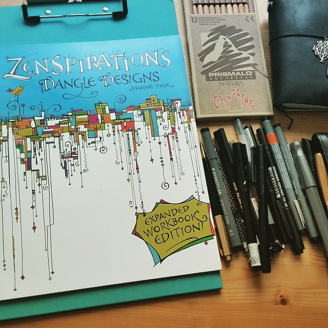 Plans for the afternoon #zentangle #zenspiration #joannefink #tangle #drawing #aquarelle #steadtler #sakura #fountainpen #midori #activitybook #writinginstruments #drawingtools #writingtools #pencils #pigmentliner