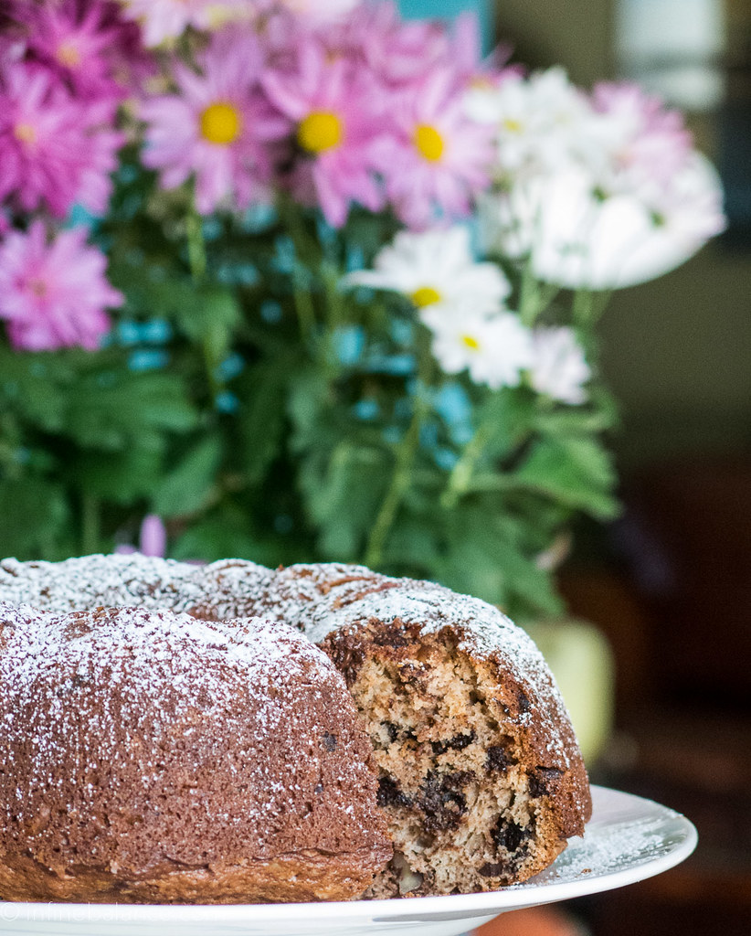 Chocolate Pecan Bundt Cake summer sour cream pecan holiday chocolate cake baking